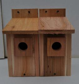 2 WESTERN BLUEBIRD BIRD HOUSES NEST..HOLE SIZE 1 9/16 ,,,5/8