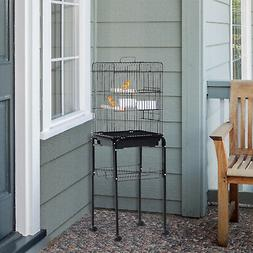 """51"""" Bird Cage Large Parrot Play Cockatiel House Metal Stand"""