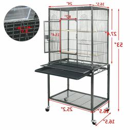 """53"""" Bird Cage Large Parrot Play Cockatiel House Feeder Stand"""