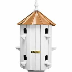 Amish 10-Hole Copper Roof Wooden Condo Birdhouse