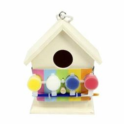 Art And Craft Paint Your Own Wooden Bird House - Craft Kit F