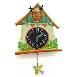 BIRD HOUSE PENDULUM WALL CLOCK
