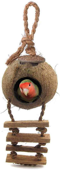 bird house with ladder nesting home
