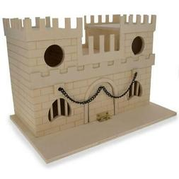 "6.5"" Blank Unfinished Wooden Birdhouse Castle"