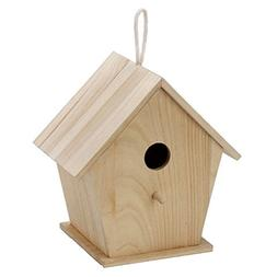 "9.5"" Blank Unfinished Wooden Birdhouse"