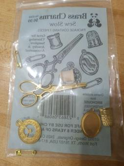 brass charms sew slow 7 pieces vintage