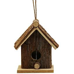Brown Wooden Outside Hanging Bird House for Small Bird Natur