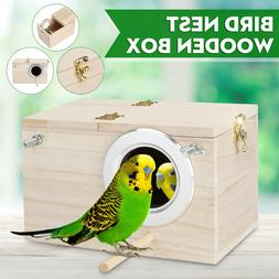 Budgie Nest Box Wooden Breeding Boxes Aviary Bird House Nest