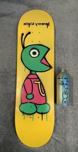 JK Industries Bug Hand Painted Skateboard Deck & Can Klein H