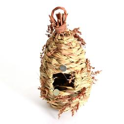 Hand Woven Warm Small Bird Nest Hanging Hummingbird House Na