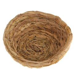 Handwoven Grass Bird Nest Cage Birdhouse/Bed House for Parro