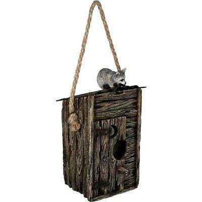 017 623 outhouse and raccoon birdhouse