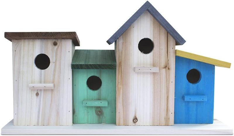 4 hole bird house for outside indoors