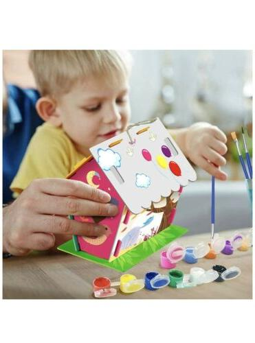 Crafts Ages 4-8, Bird House Kit Paint and