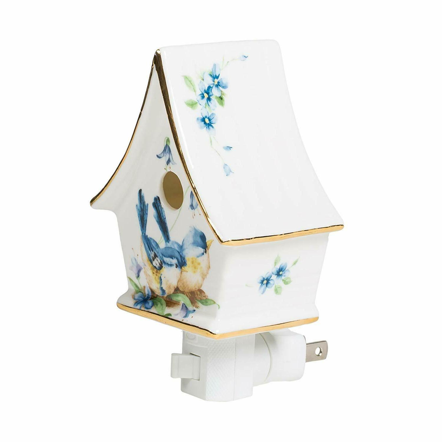 floral mini birdhouse 3 x 5 porcelain