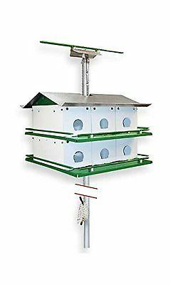 Nature House Martin Safety System with Pole, 12 Room Birdhou