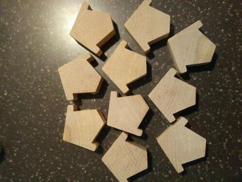 unfinished wood cut outs bird house shape