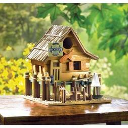 Large Bird House Wood Wooden Hanging Standing Manor Painted
