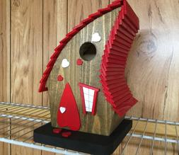 """LOVE SHACK"" CROOKED BIRDHOUSE , Heart, Bird House, Nove"