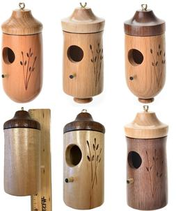 One Wooden Hummingbird Bird House Artisan Hand Crafted in Am