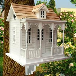 Outdoor Cottage Bird House Wooden Vintage Birdhouse Feeder L