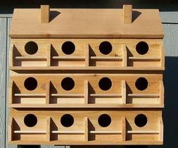 PURPLE MARTIN BIRD HOUSE WITH 12 COMPARTMENTS WESTERN RED CE