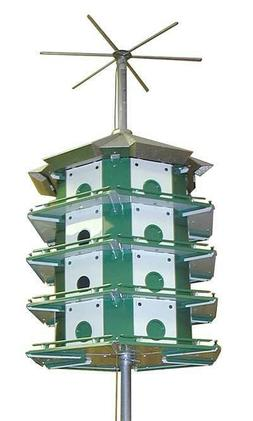 PURPLE MARTIN TRIO 24 ROOM CASTLE SAFETY SYSTEM with POLE by
