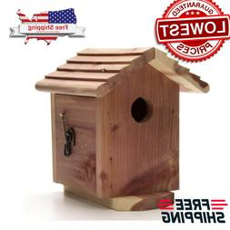 Red Cedar Wooden Outdoor Bird House Bluebird Nest Houses Bir