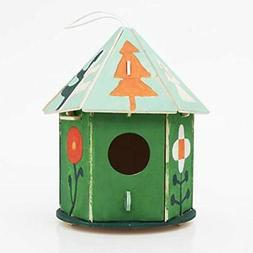 Robotime Cute Wooden Bird House Kits To Build 3D Painting Pu