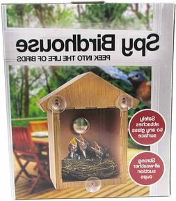 Spy House See Through Two Way Mirrored Bird House - Suction