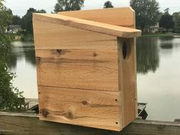 "Squirrel House Nesting Box 3/4"" Solid Cedar Owl 3 Different"