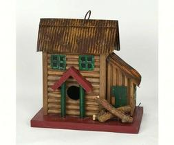 Songbird Essentials Two-Story Wood Cabin Birdhouse Easy Clea