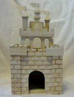 Unfinished Wood Princess Castle Style Birdhouse Stain or Pai