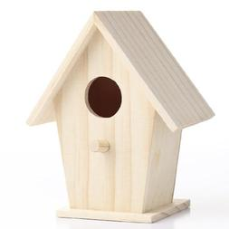 Set of 4 Unfinished Wooden Birdhouses for Crafting, Creating