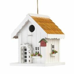 White Country Shabby Chic House with Shaker Roof Decorative