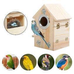 Window Mounted Spy Birdhouse Nesting Box Feeding Nature Bird