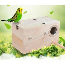 Wood Nest Box Nesting Boxes For Small Birds, Budgies & Finch