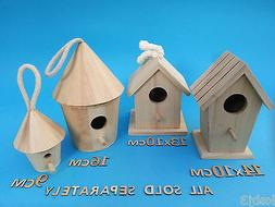 Wooden BIRD HOUSE Small Or Medium Plus Other CRAFT Wooden It