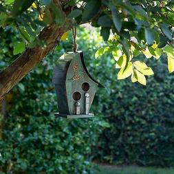 wooden turquoise birdhouse green