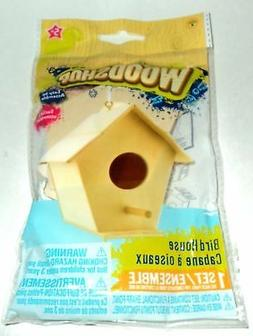 Woodshop BIRD HOUSE Easy to Assemble Build and Play Kit age