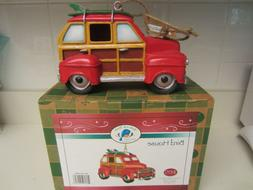 Red Carpet Studios Woody Wagon with Surf Boards Birdhouse Ne